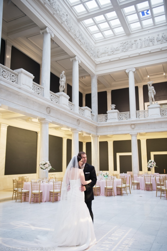 Carnegie Museum Hall of Sculptures Wedding Photos-0015