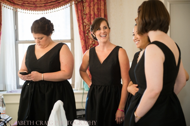 Omni William Penn Getting Ready Wedding Day Photos | Renaissance Suite-30