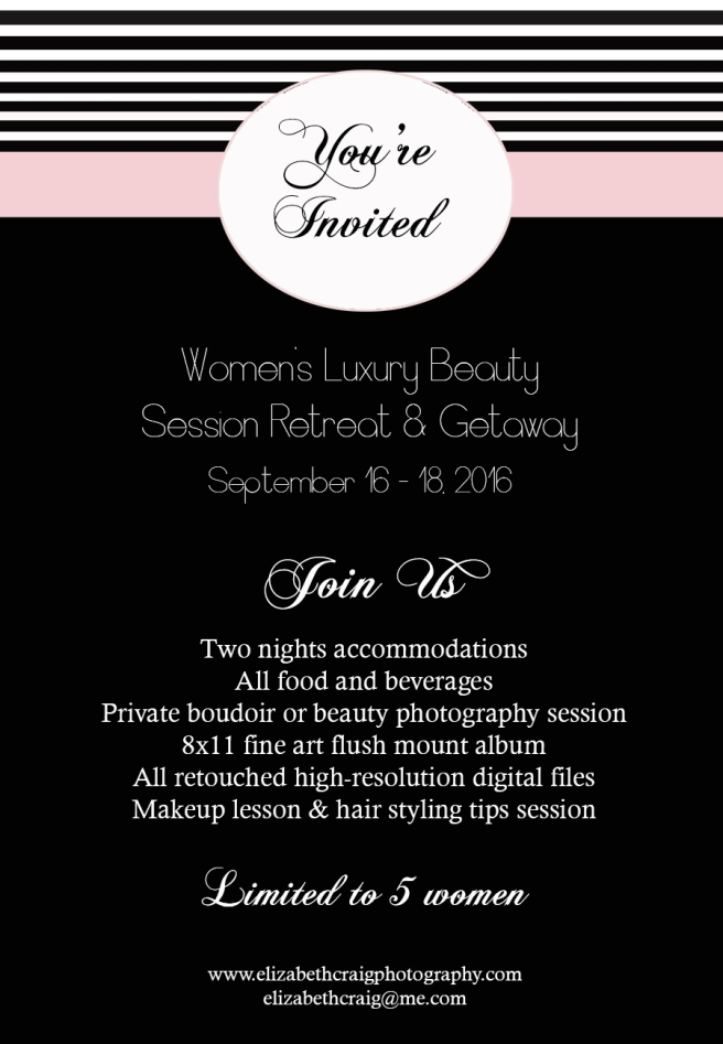 Women's Boudoir Photography Getaway