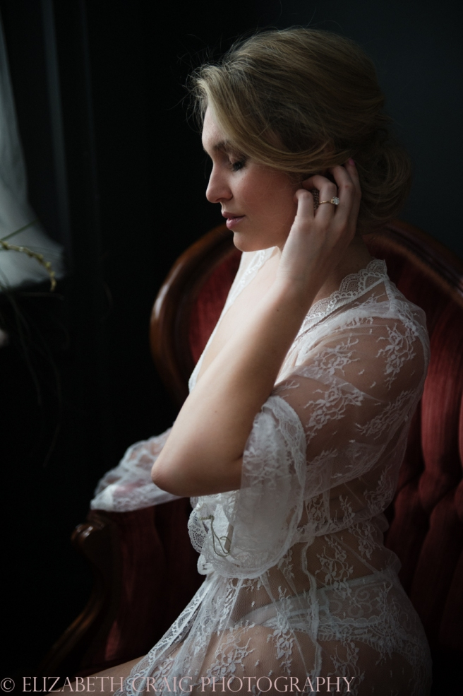 Romantic Bridal Boudoir Photos | Elizabeth Craig Photography-8